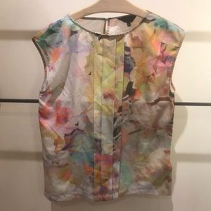 Ted Baker Sleeveless Floral Print Blouse